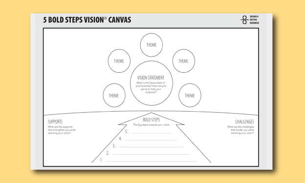 5 Bold Steps Vision Canvas course image